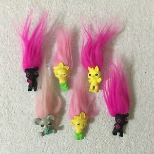 Lot 6 x Zelfs Troll Dolls Moose Toys Pencil Topper Bundle