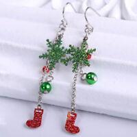 Crystal Snowflake Christmas Earrings Women Fashion Earring Jewelry