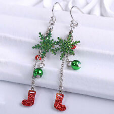 Women Fashion Earring Jewelry Crystal Snowflake Christmas Earrings