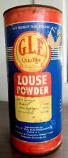 VINTAGE G.L.F.(AGWAY) LOUSE POWDER FOR COWS HORSES POULTRY DOGS 1LB. EMPTY CAN