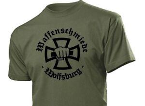 T-Shirt Waffenschmiede Wolfsburg Gr 3-5XL Weapon Blacksmith Eisernes Kreuz EK1