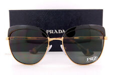 Brand New Prada Sunglasses PR 51TS LAX 5X1 Black Gold/Gray Polarized For Women
