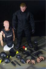 1/6 Soldier SWAT Black Uniform Military Army Suit 12'' Figure Set Model Toys