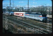 Original Slide Amtrak RARE Alsthom Demonstrator X996 Passenger Action In 1977