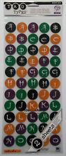 Halloween  Alphabet  Stickers 2 Sheets 110 Pcs  EK Success NIP