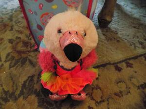 Lot Build a Bear BAB Smallfry Pink Flamingo Bird  Plush retired w flamenco dress