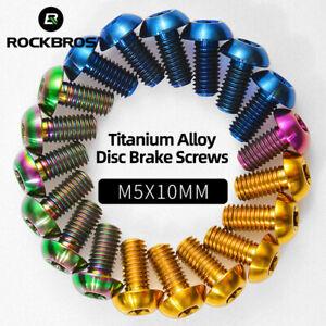 RockBros Titanium Alloy Screw M5x10mm Brake Disc Lightweight DIY Bicycle Parts