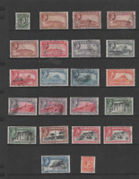 GIBRALTAR 1938-51 KGVI  SET OF 22(Inc. COLOUR & PERF. CHANGES)  FINE USED CV£140