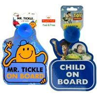 Disney Toy Story/ Mr Tickle Baby on Board Car Sign With Suction Cup Kids Sticker