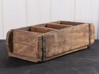"IB Laursen Ziegelform ""Unika"" 3-fach aus Holz Unikat Aufbewahrung Box"