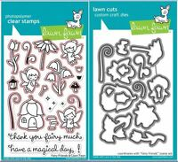 Lawn Fawn Photopolymer Clear Stamp + Die Combo ~FAIRY FRIENDS  ~LF1057,LF1058
