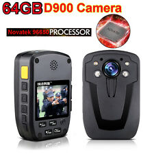 64GB D900 Security Guard Police Body Camera IR Night Vision Camcorders 1080P Hot