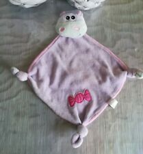 Doudou Hippopotame Vert Plat Violet Rose Bonbon JJA