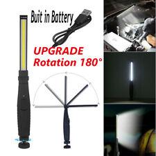 Cob Led Slim Work Light Bright Flashlight Rechargeable Inspection Lamp Magnetic