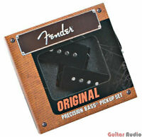 Genuine Fender Precision Bass Original Pickups Set Kit - Black - 099-2046-000