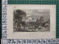 1829 Datato Antico Stampa ~Sandlands~ The Sedile Di William Atti Near Hythe Kent
