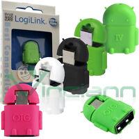 Mini adattatore Android OTG Host USB per Wiko Rainbow 4G MAO1