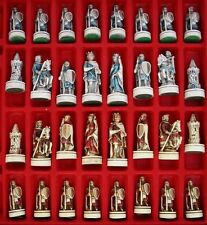 "ANCIENT CRUSADERS CHESS SET, very nice set.  BOARD 13X13"" KING 3"" HIGH"