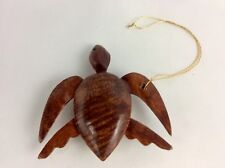 """Hawaiian Curly Koa Turtle Ornament The Size Of This Item Is: 3""""L By 3"""" W"""
