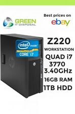 HP Z220 CMT (A3J44AV) per workstation QUAD i7 3770 3.40GHz 16 GB Ram 1 TB HDD 3AI7W