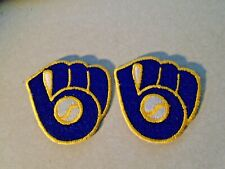 Lot of 2  BASEBALL GLOVE PATCH MILWAUKEE BREWERS