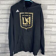 LAFC Los Angeles Football Club Mens Hoodie Sweatshirt Adidas Black Size XL
