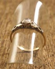 18 Carat & Pall Gold Ring With Zirconia Stone 2g M1#3