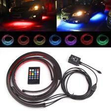 4pcs 12V RGB LED Strip Under Car Auto Tube Underbody Glow System Neon Light Kit