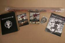 NEW Darksiders III 3 Apocalypse PS4 Steelbook Case Artbook Necklace Wall Scroll
