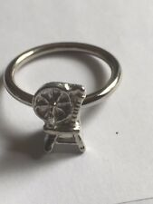 Spinning Wheel TG306A Fine English Pewter on a Scarf Ring