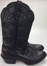 Ariat Boots Womens US 8.5 B Leather Black Cowboy Western Riding EUR 39 M