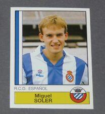 103 MIGUEL SOLER RCD ESPANYOL PANINI LIGA FUTBOL 87 ESPAÑA 1986-1987 FOOTBALL