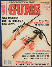 Vintage Magazine *GUNS* November, 1985 !!! BEEMAN Model P1 Magnum AIR PISTOL !!!