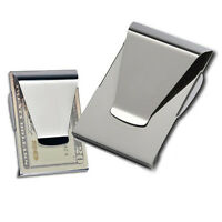 New Stainless Steel Slim Moneys Clip Double Sided Credit Card Holder Wallet