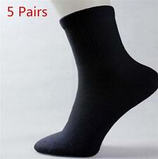 5 Pairs Black Men's Socks Winter Thermal Casual Soft Cotton Mesh Sport Sock