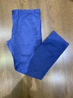 Timberland men's chino trousers cotton navy blue size 40 34 straight fit