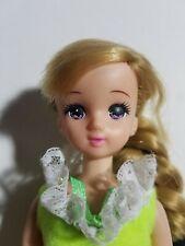 "Takara TOMY Licca Doll Blonde Side Bang Braided Ponytail Hair 9"" in Orig Dress"