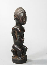 Fang, Seated Female Reliquary Statue, Central Gabon, African Tribal Art.