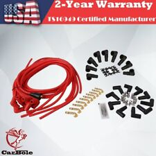 Silicone 8mm Spark Plug Wire Set  90 degree For Chevy SBC BBC HEI 350 383 454