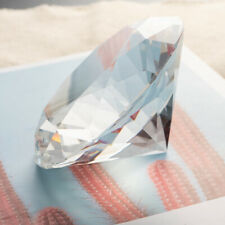 100mm Glass Crystal Diamond Paperweight Wedding Display Glass Ornament Gifts Box