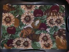 NEW Set of 4  Autumn APPLES SUNFLOWERS FALL  Tapestry Table Placemats