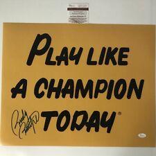 Autographed/Signed Rudy Ruettiger Play Like A Champion Today 16x20 Photo Jsa Coa