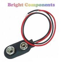 5x PP3 9v la batería clip de - 150 Mm Cable conduce - 1st Class Post