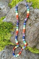 7 CHAKRA 8mm Round Gemstone Beaded Necklace Crystal Stone Mineral Healing Reiki