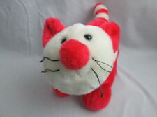 MEOW FUNNY RED WHITE KITTY FAT CAT CARTOON CHARACTER PLUSH STUFFED ANIMAL TOY