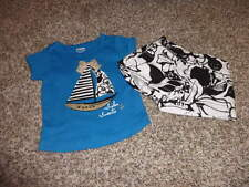 GYMBOREE 12-18 FLORAL SAILBOAT SHIRT SHORT SPRING GETAWAY ISLAND HOPPER