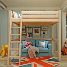 High Sleeper Ladder Bunk Bed Loft Bunk Cabin w/ Wood Pine Frame Child Single Bed