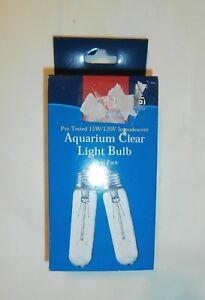 Aquarium Clear Light Bulb by Aqua Culture - Twin Pack 15W / 120V New