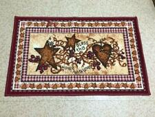 Country Heart Star Berry Bless This Home Primitive Folk Art Accent Bath Rug Mat