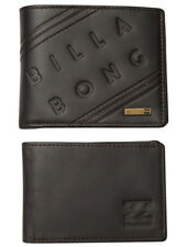 "Leather Wallet Billabong Mens Men Boys ""brooklyn"" Two in One Trifold Java"